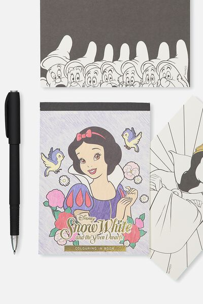 Post Card Colouring Book, LCN SNOW WHITE