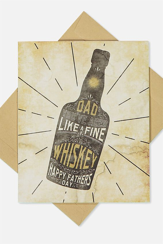 Fathers Day Card, FINE WHISKEY!