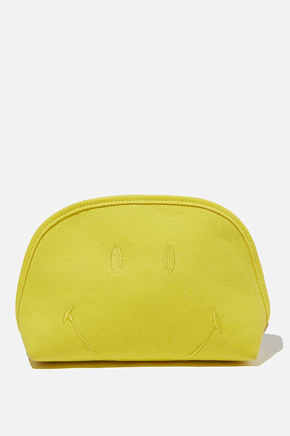 Smiley Canvas Essential Pouch, LCN SMI SMILEY YELLOW FACE