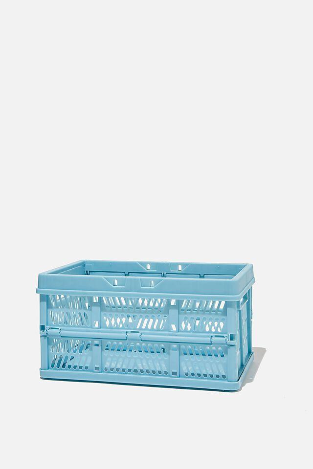 Small Foldable Storage Crate, DENIM BLUE