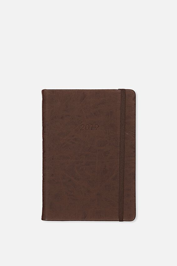 2019 A5 Daily Buffalo Diary, VINTAGE TAN