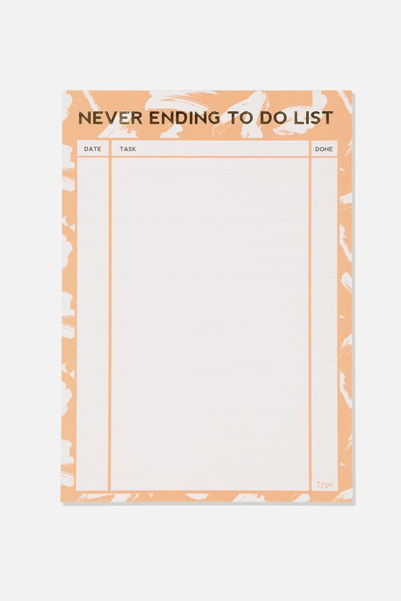 Large Plan Ahead Planner, NEVER ENDING TO DO PINK