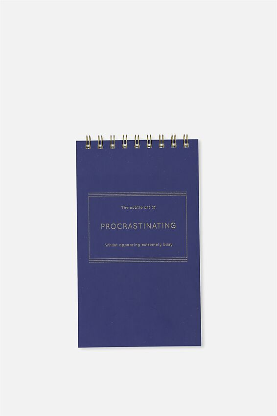 Flip Out Notepad 200Pgs, BLUE PROCRASTINATION