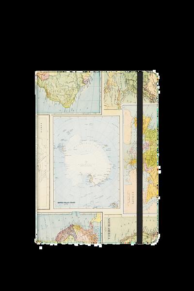 A5 Buffalo Journal, GRID WORLD MAP