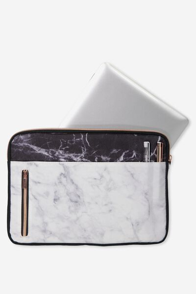"Take Charge Laptop Cover 13"", MARBLE"
