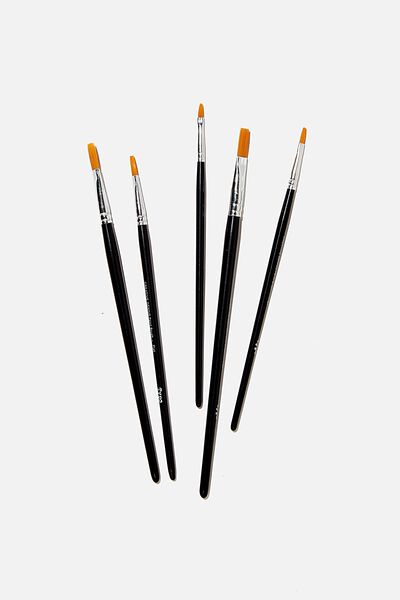 Paint Brush 5 Set, BLACK