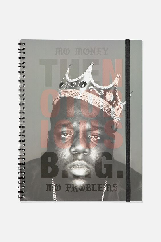 A4 Biggie Spinout Notebook Recycled, LCN BIGGY