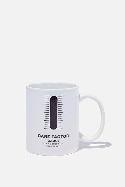 Heat Sensitive Mug, CARE FACTOR GAUGE