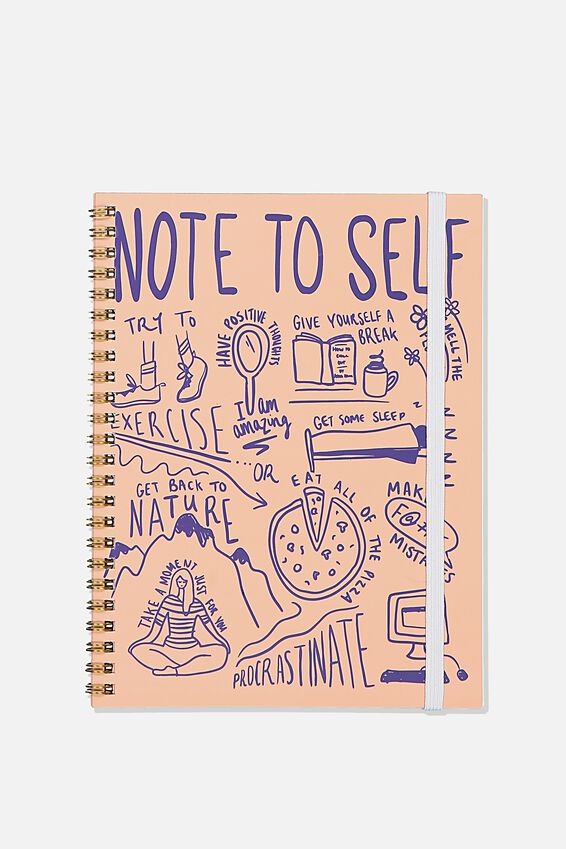 A5 Spinout Notebook Recycled, NOTE TO SELF