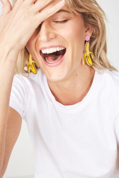 Premium Novelty Earrings, BANANAS