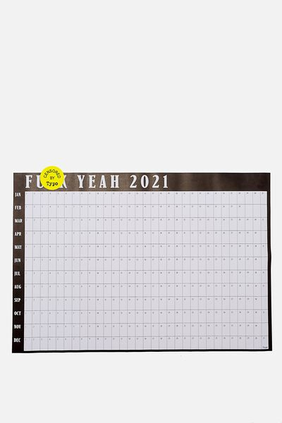 2021 A1 Year Planner Roll, BLACK F YEAH!!
