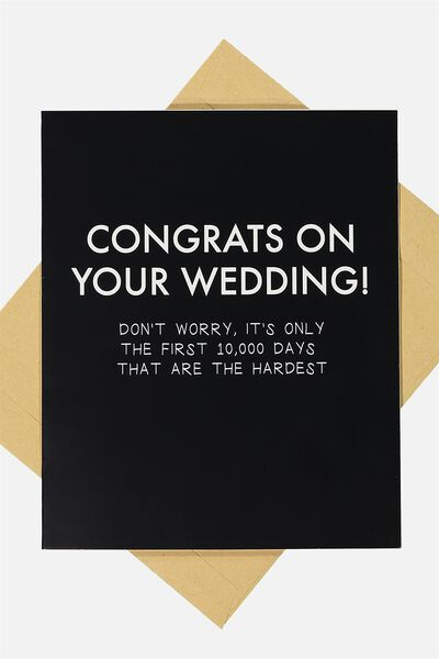 Wedding Card, CONGRATS ON YOUR WEDDING