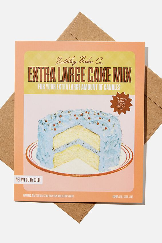 Funny Birthday Card, CAKE YOURE OLD ILLUSTRATION