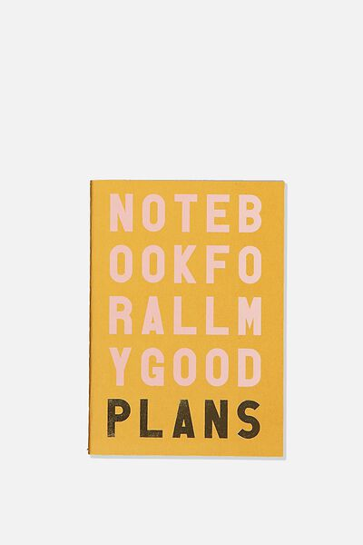 The Mini Undated Monthly Diary, MUSTARD GOOD PLANS