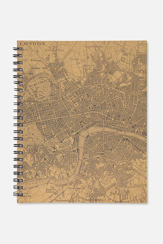A4 Campus Notebook, LONDON CRAFT MAP