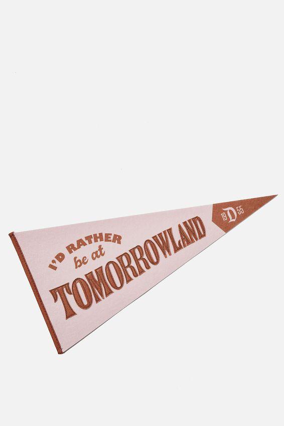 Pennant Wall Flag, LICENSE DISNEYLAND TOMORROWLAND