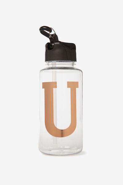 Alphabet Drink Bottle, ROSE GOLD U