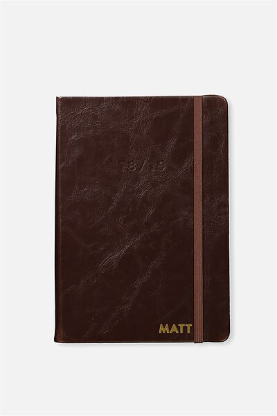 Personalised 2018 19 A5 Weekly Buffalo Diary, RICH TAN