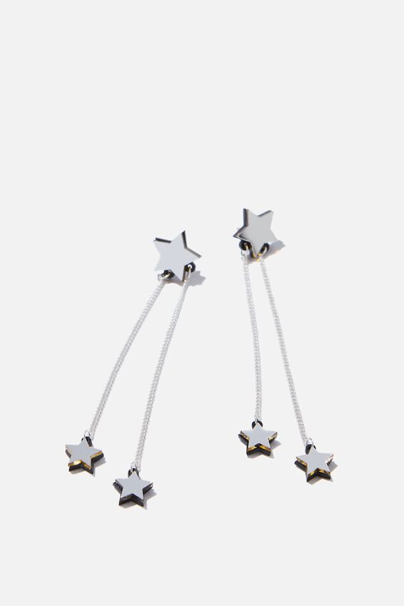 Premium Novelty Earrings, DROP STARS