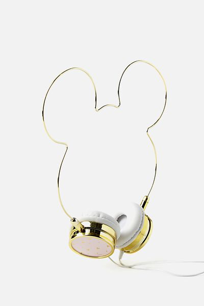 Novelty Headphones, LCN BLUSH MICKEY HEAD