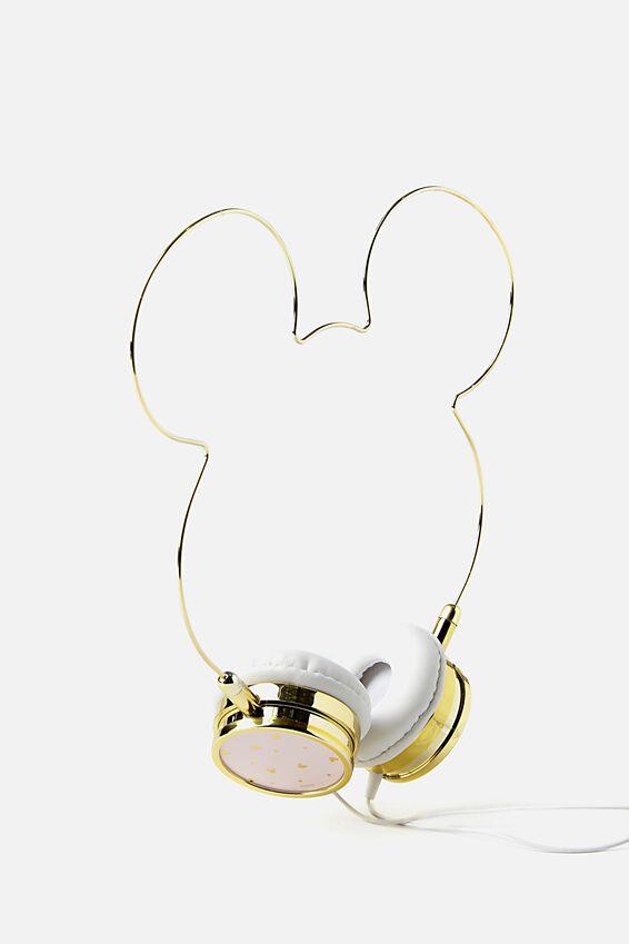 Novelty Headphones, LCN BLUSH MICKEY HEAD