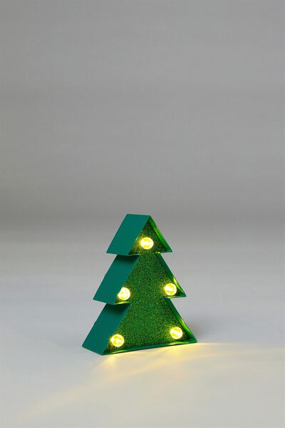 Shaped Mini Marquee Light, GREEN CHRISTMAS TREE