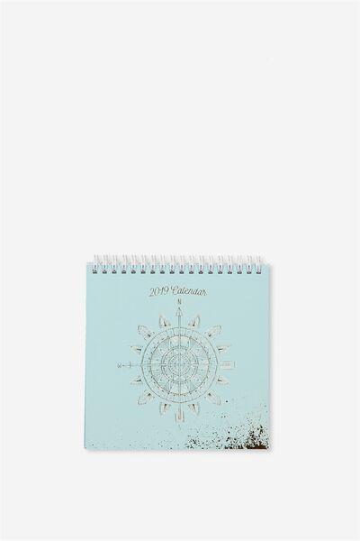 2019 Flip Desk Calendar, BOHO