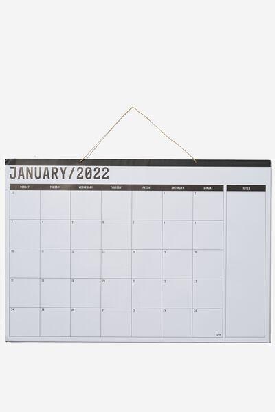 2022 A1 Hanging Calendar, WHITE