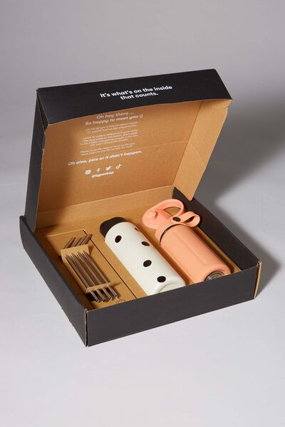 Sustain Me Gift Box, PEACH AND OVERSIZED POLKA