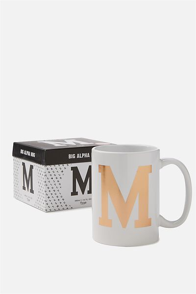 Big Alphabet Mug, ROSE GOLD M