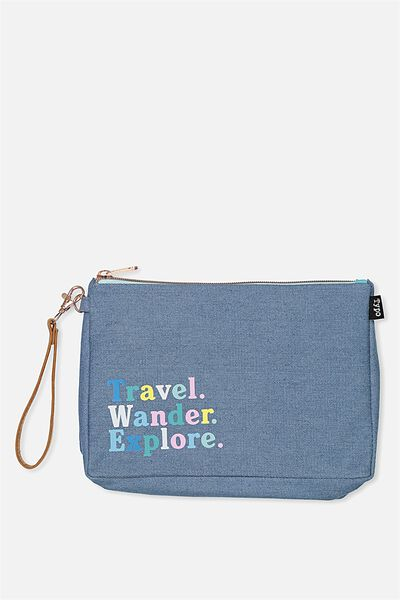 3 Pc Travel Organiser Bags, CHAMBRAY EXPLORE