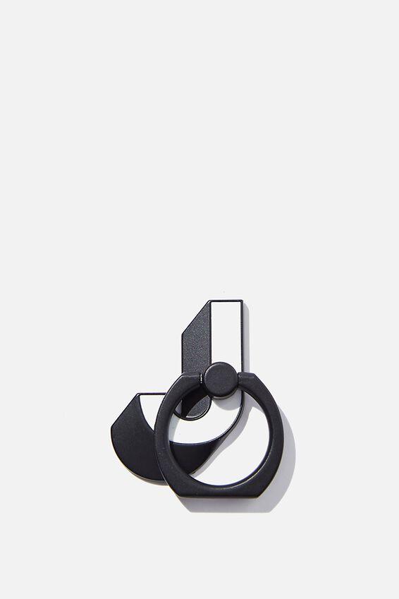 Metal Alpha Phone Ring, SHAPED J