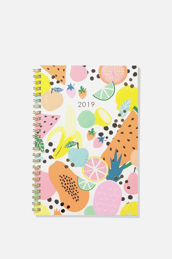2019 Hardcover Spiral Diary, FRUIT