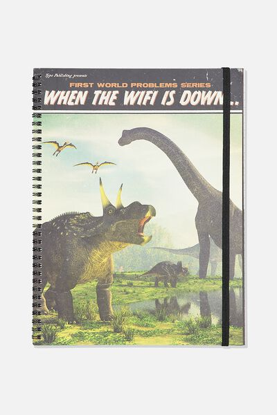 A4 Spinout Notebook Recycled, WIFI DOWN
