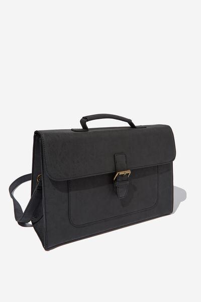 Nuevo Satchel Bag, BLACK
