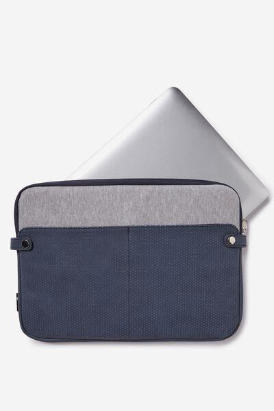 Varsity Laptop Case 13 Inch, NAVY AND GREY