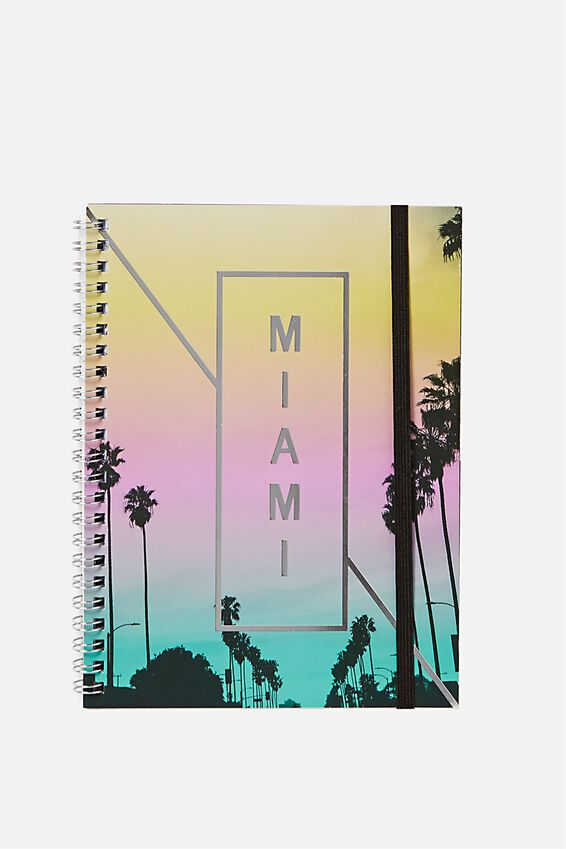 """Small Spinout Notebook 8x6"""", MIAMI"""