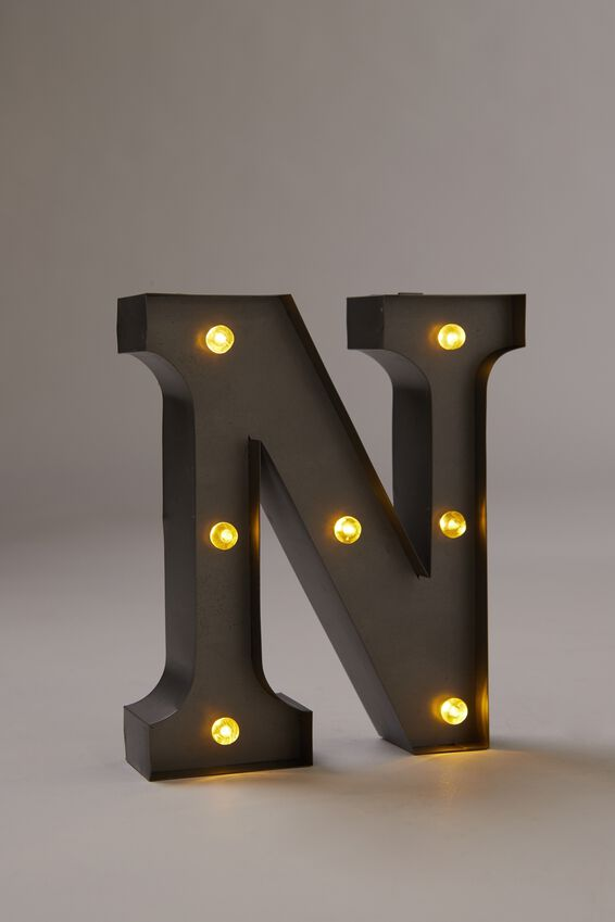 Midi Marquee Letter Lights 6.3inch, SILVER N