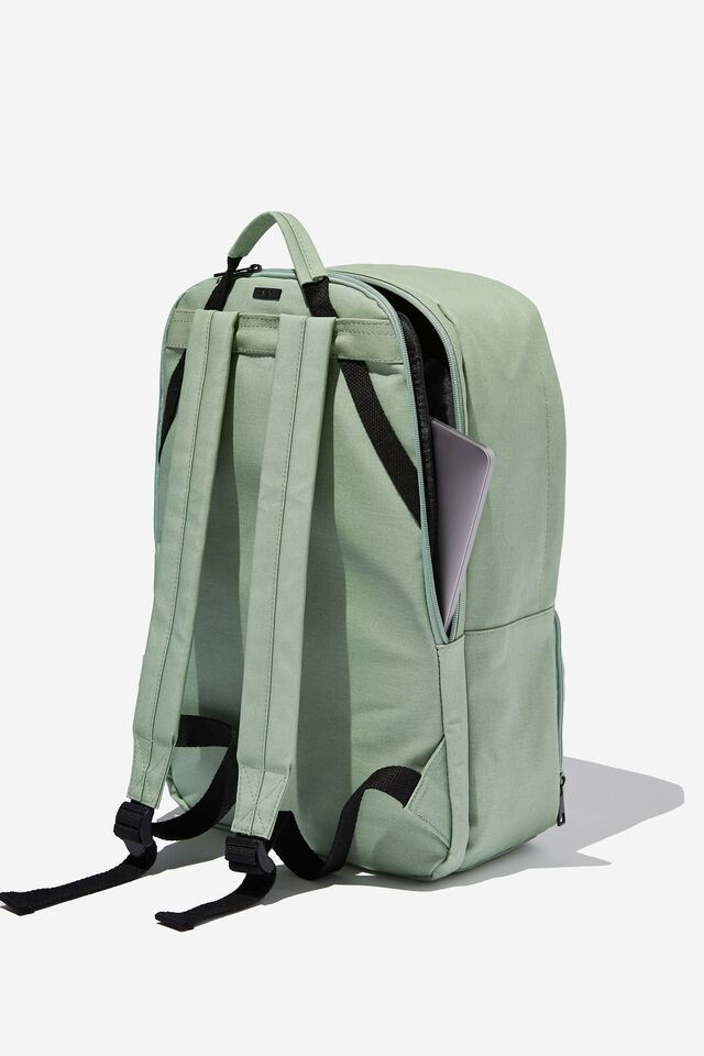 Formidable Backpack 15 Inch Coated Canvas, GUM LEAF
