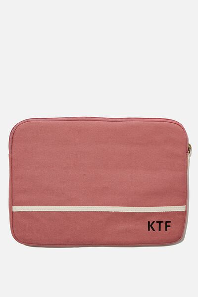 Personalised Canvas 13 Inch Laptop Case, DUSTY ROSE