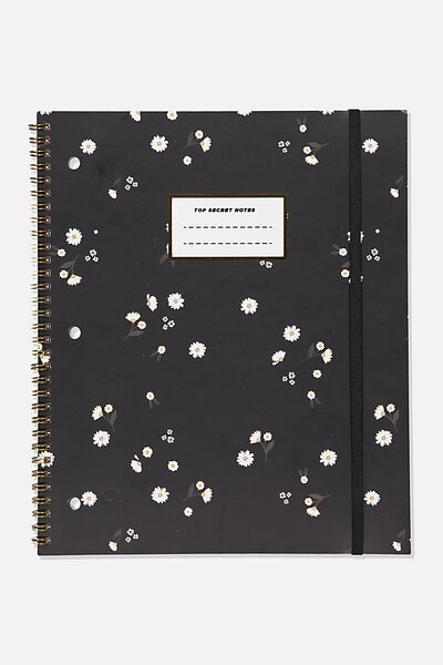 College Ruled Spinout Notebook V, DITSY FLORAL