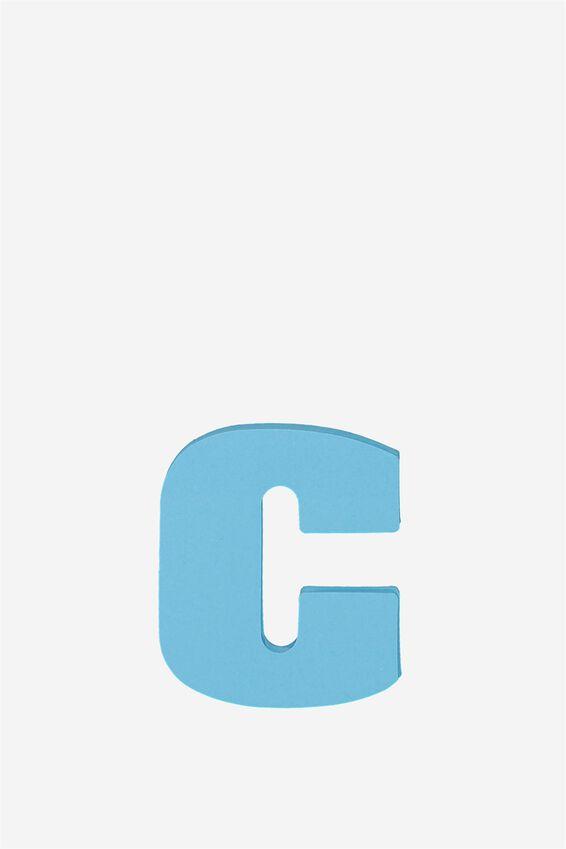 Alphabet Sticky Notes, C AQUA BLUE