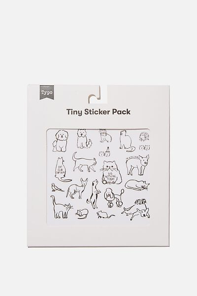 Tiny Sticker Pack, DOGS & CATS