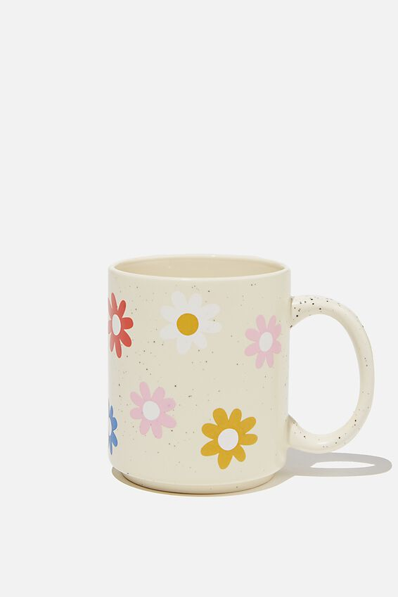 Daily Mug, DAISY FLOWER PATTERN