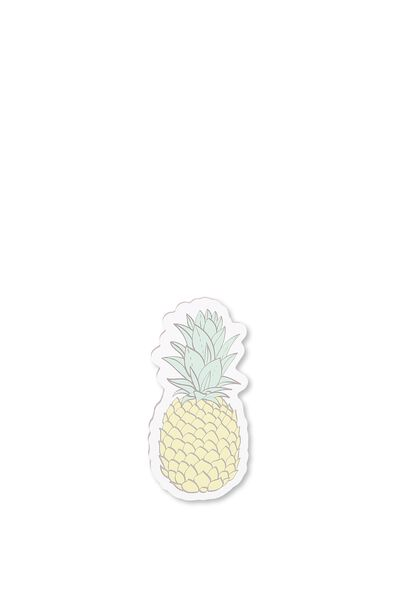 Novelty Sticky Notes - 60 Pages, PINEAPPLE