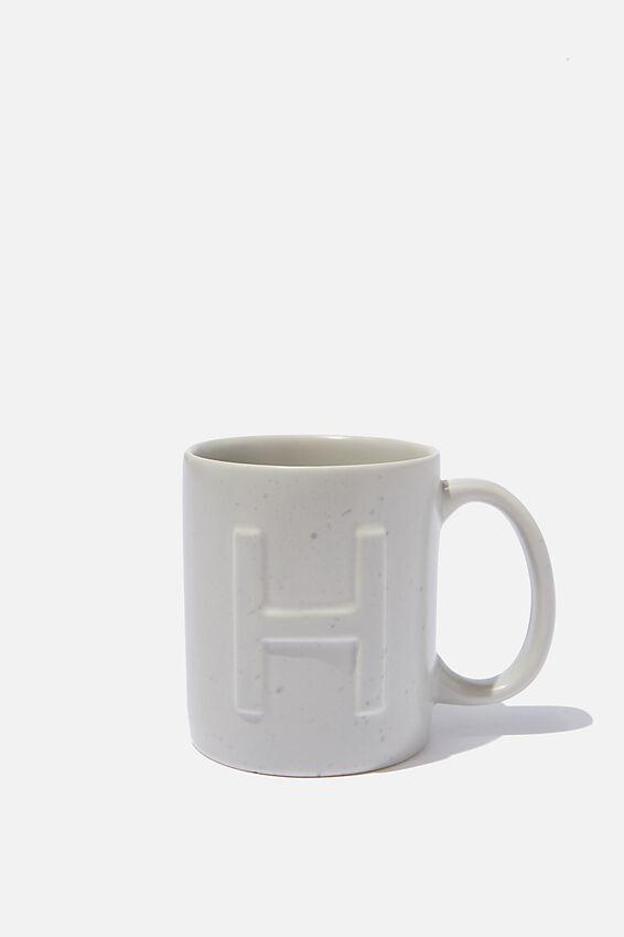 Alphabet Anytime Mug, SPECKLED H