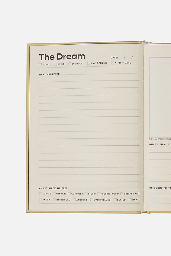 A5 Fashion Activity Journal, DREAM JOURNAL!!