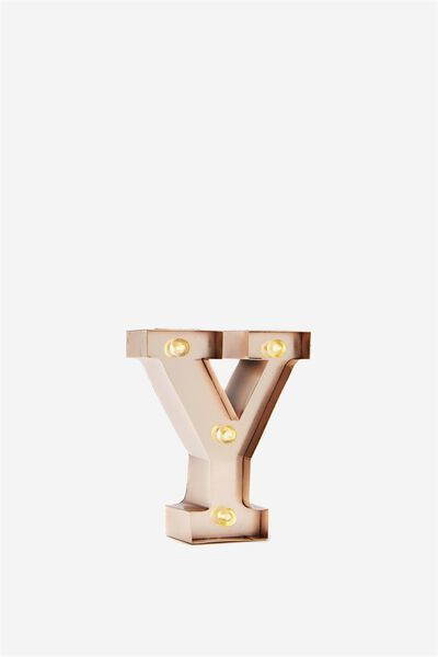 "Mini Marquee Letter Lights 3.9"", ROSE GOLD Y"