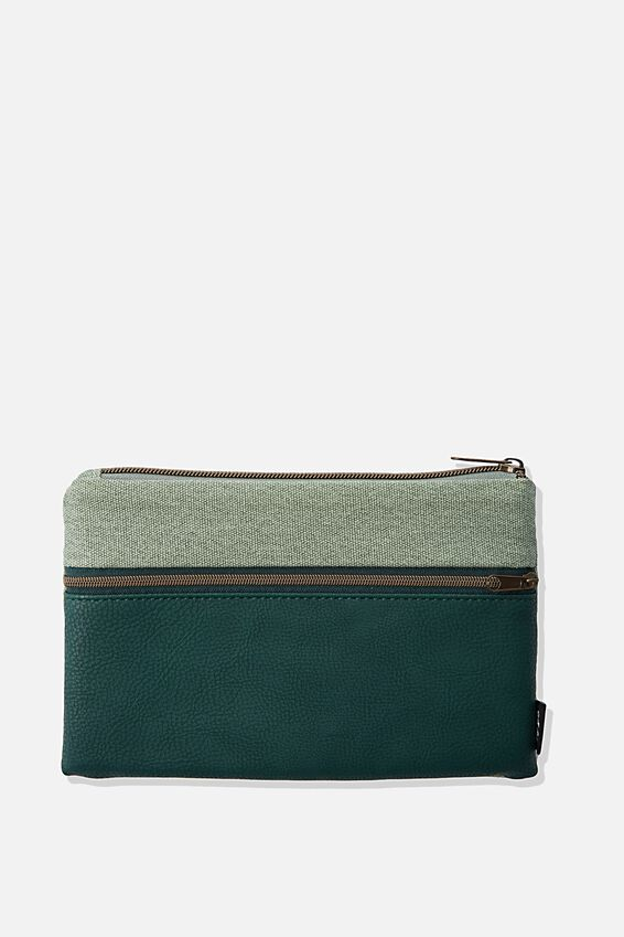 Archer Pencil Case, DEEP GREEN