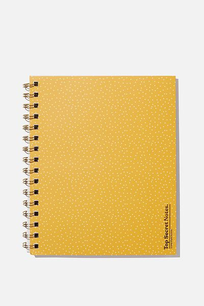 A5 Campus Notebook Recycled, TOP SECRETS